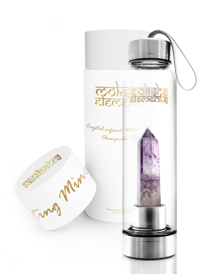 Amethyst Quartz Crystal Infused Water Bottle