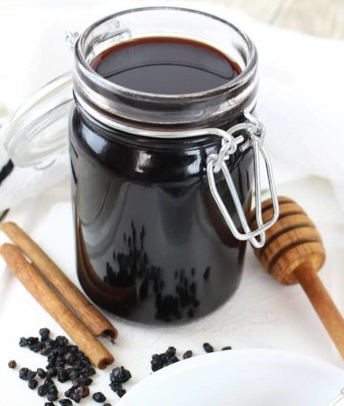 Homemade Potent Organic Elderberry Syrup